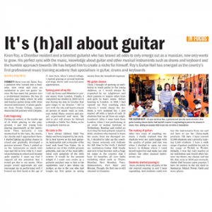 Kiran Roy featured in Mumbai Mirror